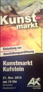 Einladung Kunstmarkt Arkadenplatz 2014-11-01