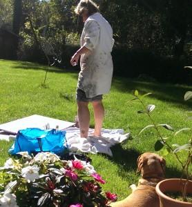 Malen im Garten 2014-09-26