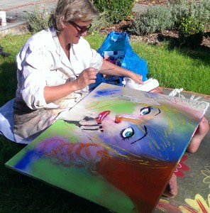 Malen im Garten III 2014-09-26