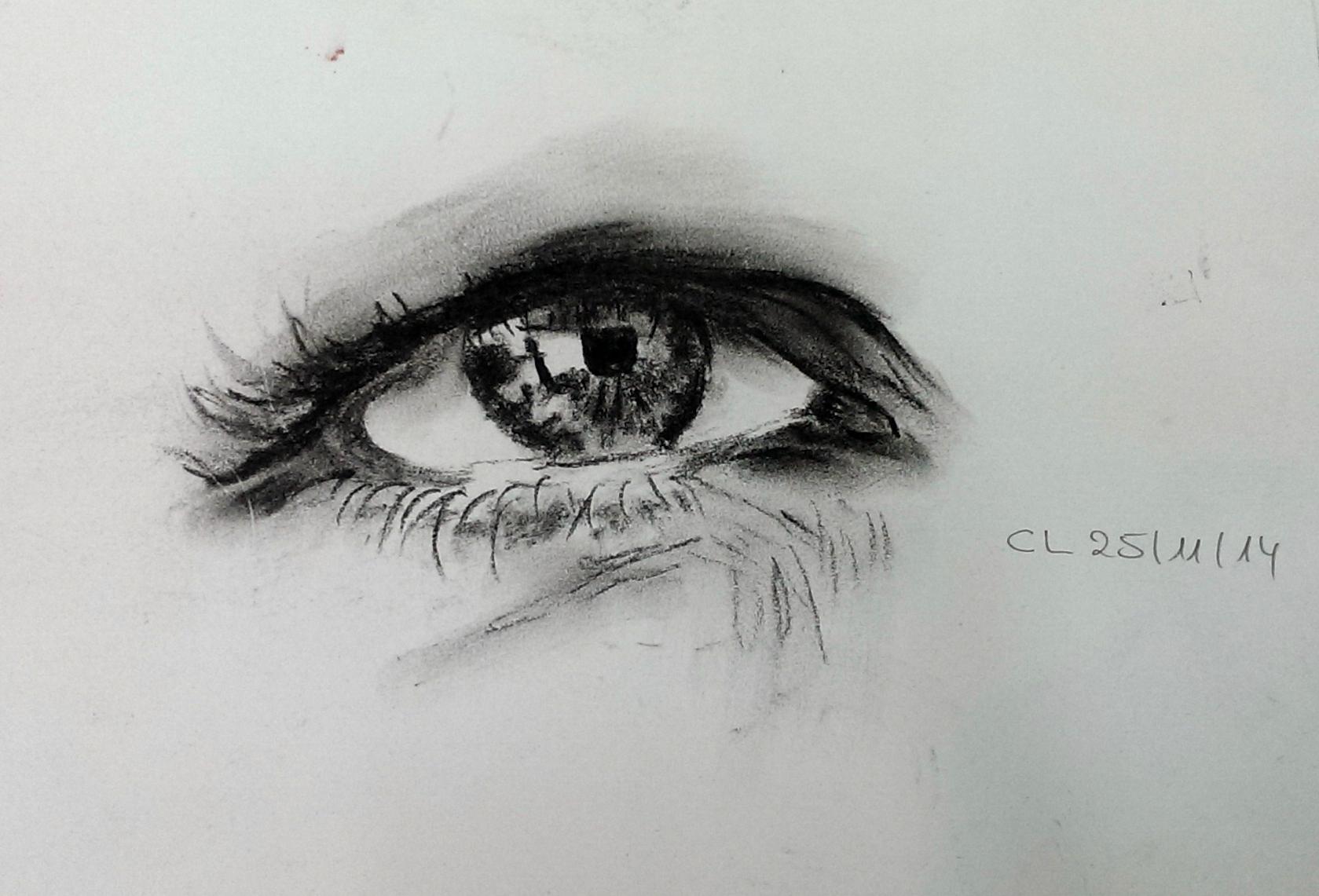 Gestisches Expressives Zeichnen Und Fortsetzung Projekt Augen