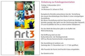 Einladung Kitz Art Katalogpräsentation 2014-11-1