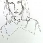 Kursteilnehmerin sehr schöne expressive Zeichnung