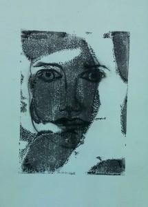Kristin Gesicht Monotypie 2015-01-29