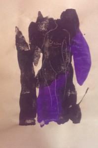 Akt schwarz lila CL 2015-03-17