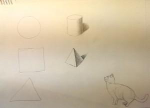 Grundformen und Katze 2015-03-13