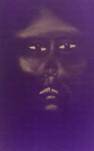 Portrait auf schwarzem Papier HS 2015-04-08