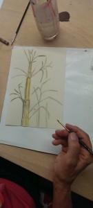 Doris Lavierung Bambus 2015-06-18