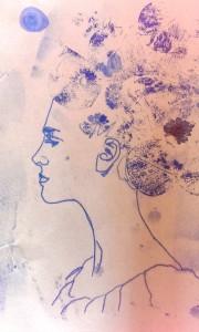 CL Gesicht Blumenmädchen
