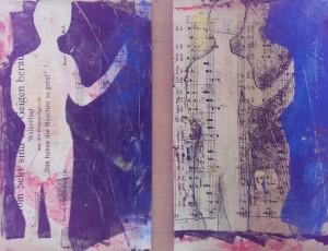 CL Silhouette auf Musikpapier