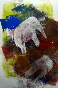 Lea der Weiße Elefant Monotypie 2015-10-14