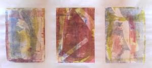 Serie Feder Gelatineplatte