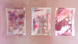 Serie Gelatineplatte Hände