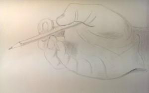 Mali Skizze Hand mit Stift 2015-12-15