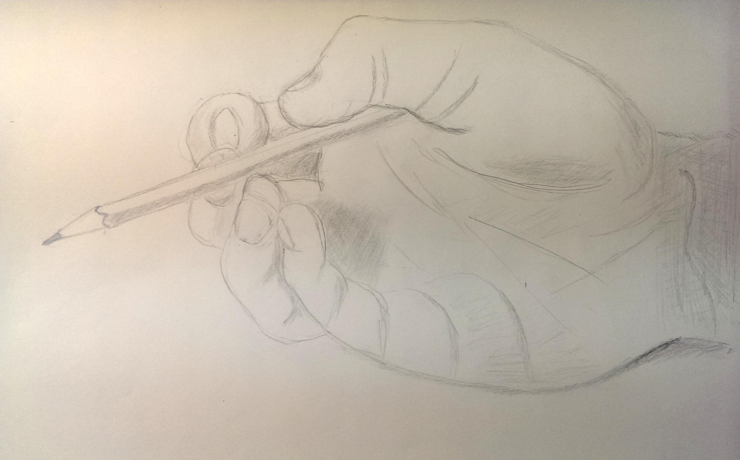 Außergewöhnlich Dienstagskurs Bleistift und Pastellkreide - Hände für Anfänger @SV_85