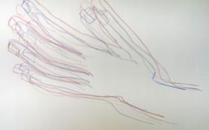 Stefanie Hände Blindzeichnung 2015-12-03
