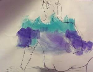 CL Akt Kohle auf Acryl 2016-02-15