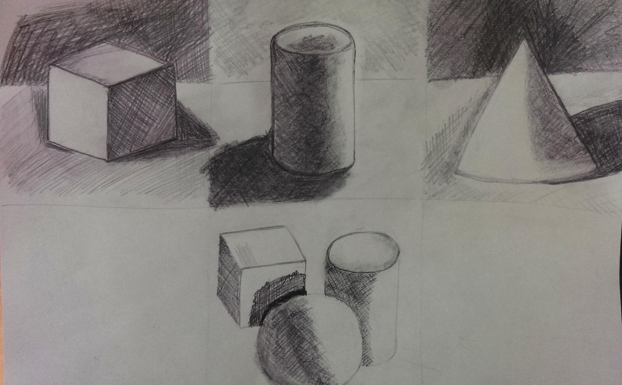 Geometrische Formen zeichnen - Perspektive Übungen