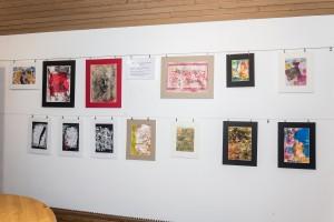 Wand Atelier Monotypie Kursteilnehmer 2016-03-18