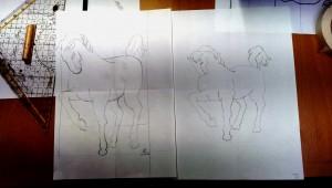 Umkehrzeichnung Pferd 2016-04-13