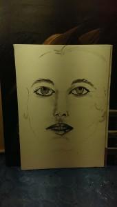 birgit P Gesicht gezeichnet Skizze