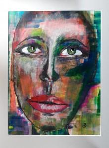 Magdalena Gesicht aus Farbresten