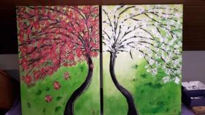 Magdalena zwei Bäume