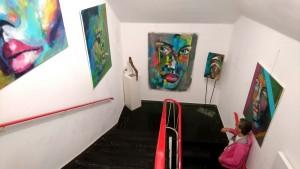 CL Foto Arbeiten in der Galerie im Stiegenhaus