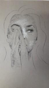 Melanie Porträtskizzen