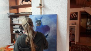 Eva Beginn Bild Pferd Skizze