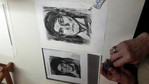 Bei der Arbeit Picasso Selbstporträt