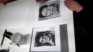 Bei der Arbeit Picasso Selbstporträt_1