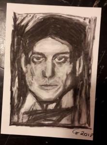 Claudia Picasso Porträt Kohle