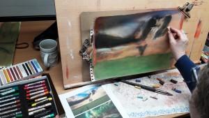 Eva Landschaft in Pastell