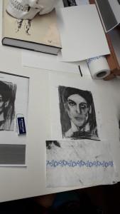 Helene Porträt Picasso Kohle