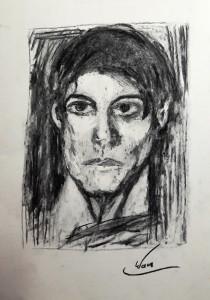 Marianne Picasso Porträt Kohle