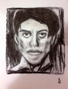Silvia Picasso Porträt Kohle