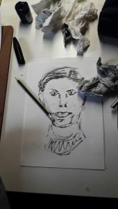 2018-03-21 Sybille 2 Minuten Zeichnungen