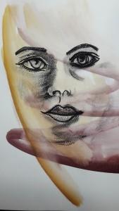 Anneliese Porträt abstrakt