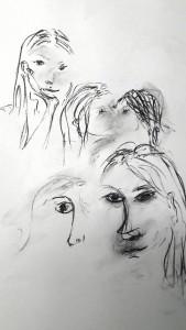 Helene Porträt Studien