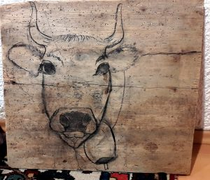 Bild Acrylmalerei Tiere Malerei Kuh Von Anita Collenberg Bei