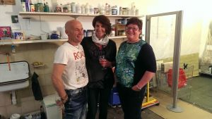 liebe Gäste und Zeichnerin Barbara