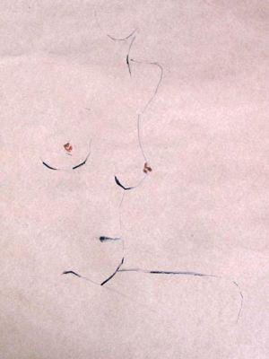 Akt Acryl auf Papier